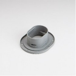 "Fortress LWF92G 3-1/2"" Gray Wall Flange"