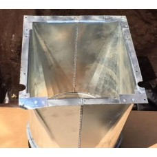 """Spacepak AC-SM9D-PA Plenum 9"""" Round Sheet Metal Adapter"""