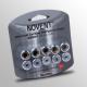 "Novent 86691 Sliver Locking Refrigerant  Cap 1/4"" Thread R410A 10pk"