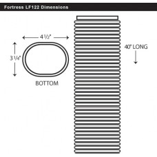 "Fortress LF122B 4-1/2"" Brown Flexible Elbow 40"" Long"