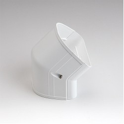 "Fortress LCFO122W 4-1/2"" 45 Degree White Outside Vertical Elbow"