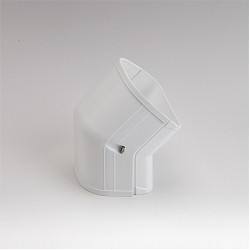 "Fortress  LCFO92W 3-1/2"" 45 Degree White Outside Vertical Elbow"