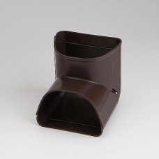 "Fortress LCI122B 4-1/2"" 90 Degree Brown Inside Vertical Elbow"