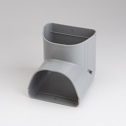 "Fortress LCI122G 4-1/2"" 90 Degree Gray Inside Vertical Elbow"