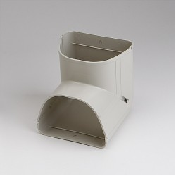"""Fortress LCI122I 4-1/2"""" 90 Degree Ivory Inside Vertical Elbow"""