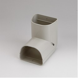 "Fortress LCI92I 3-1/2"" 90 Degree Ivory Inside Vertical Elbow"