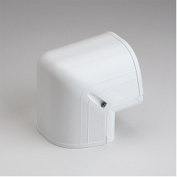 "Fortress LCO122W 4-1/2"" 90 Degree White Outside Vertical Elbow"