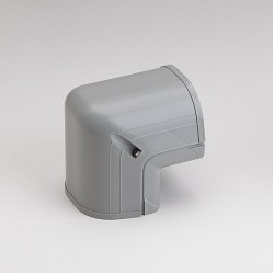 "Fortress LCO92G 3-1/2"" 90 Degree Gray Outside Vertical Elbow"