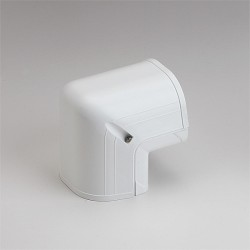 "Fortress LCO92W 3-1/2"" 90 Degree White Outside Vertical Elbow"