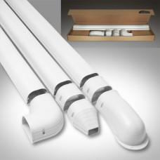 "Fortress LDK122W 4-1/2"" x 12' White Line Set Wall Duct Kit"