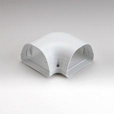 "Fortress LK122W 4-1/2"" 90 Degree White Flat Elbow"