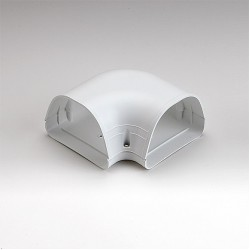 "Fortress LK122W 4-1/2"" 90 Degree White Flat Elbow"