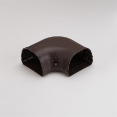 "Fortress LK92B 3-1/2"" 90 Degree Brown Flat Elbow"