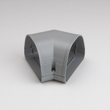 "Fortress LKF122G 4-1/2"" 45 Degree Gray Flat Elbow"