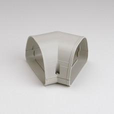 "Fortress LKF122I 4-1/2"" 45 Degree Ivory Flat Elbow"