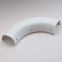 "Fortress  LKS122W 4-1/2"" 90 Degree White Long Sweep Elbow"