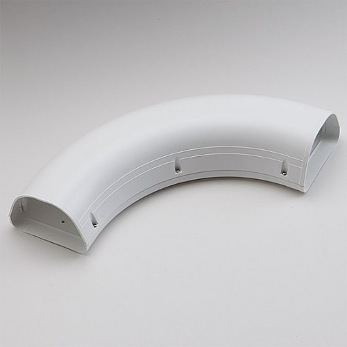 """White 4-1//2/"""" 90 Degree Sweep Elbow Fortress/® Line Set Cover"""