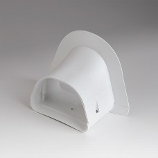 "Fortress LP122W 4-1/2"" White Soffit Inlet"