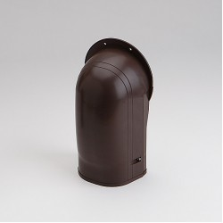 "Fortress LW122B 4-1/2"" Brown Wall Inlet"