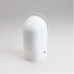 "Fortress LW122W 4-1/2"" White Wall Inlet"