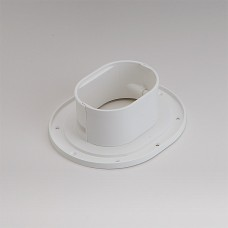 "Fortress LWF122W 4-1/2"" White Wall Flange"