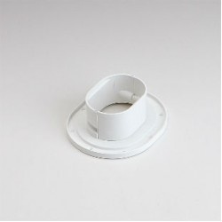 "Fortress LWF92W 3-1/2"" White Wall Flange"