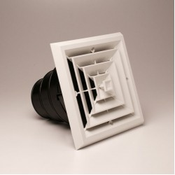 Airtec MV4S 4-Way White Ceiling Diffuser
