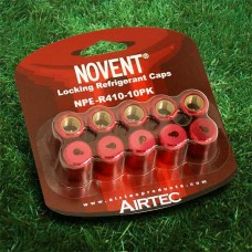 "Novent 86681 Pink Locking Refrigerant  Cap 1/4"" Thread R410A 10pk - NP-R41010PK"