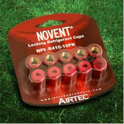 "Novent 86681 Pink Locking Refrigerant  Cap 1/4"" Thread R410A 10pk - NP-R41010PK"