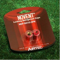 "Novent 86682 Pink Locking Refrigerant Caps 1/4"" Thread R410A 2pk - NP-R4102PK"