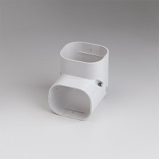 "SlimDuct SC77W 2-3/4"" White 90° Vertical Elbow"