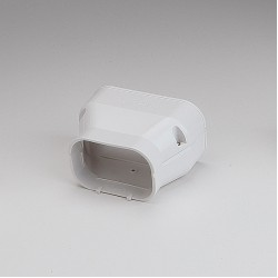 "SlimDuct White Reducer 5-1/2"" to 3-3/4"""