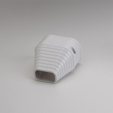 """SlimDuct SEN100W  3-3/4"""" White End Fitting"""