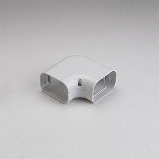 """SlimDuct SK100W 3-3/4"""" White 90° Flat Elbow"""