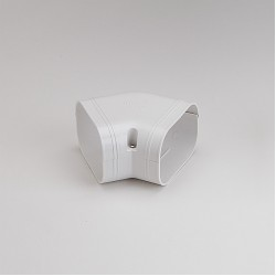 "SlimDuct 5-1/2"" White 45° Flat Elbow"