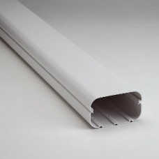 "SlimDuct SD140W 78"" x 5 1/2"" White Line Set Ducting"