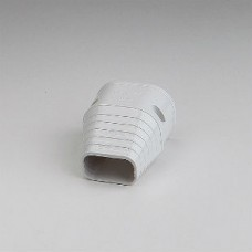 """SlimDuct SEN77W 2-3/4"""" White End Fitting"""