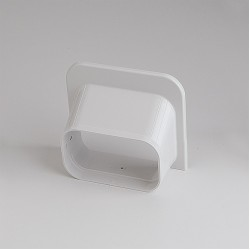 SlimDuct White Soffit Inlet 5-1/2""