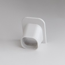 """SlimDuct SP77W 2-3/4"""" White Soffit Inlet"""