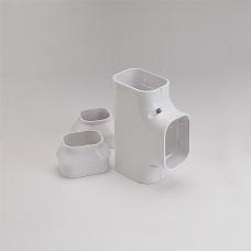 "SlimDuct ST77W 2-3/4"" White Tee"