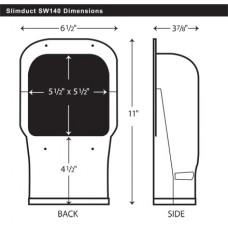 SlimDuct SC140 90 Vertical Elbow 5-1/2""