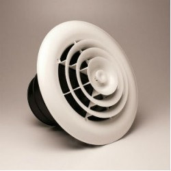 Airtec MV360 360 Degree Round White Ceiling Diffuser