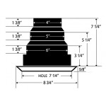 Airtec MV2S 2-Way White Ceiling Diffuser
