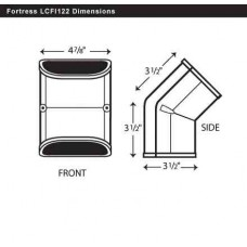"Fortress LCFI122B 4-1/2"" 45 Degree Brown Inside Vertical Elbow"