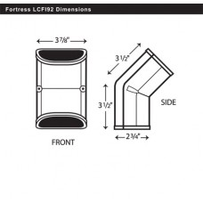 "Fortress LCFI92B 3-1/2"" 45 Degree Brown Inside Vertical Elbow"