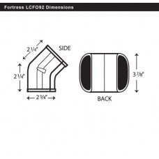 "Fortress  LCFO92B 3-1/2"" 45 Degree Brown Outside Vertical Elbow"