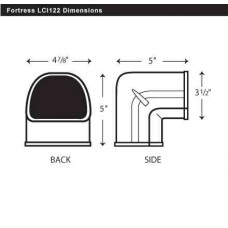 "Fortress LCO122B 4-1/2"" 90 Degree Brown Outside Vertical Elbow"