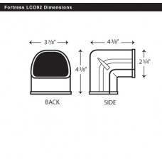 "Fortress LCO92B 3-1/2"" 90 Degree Brown Outside Vertical Elbow"