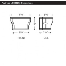 "Fortress LDR12292B 4-1/2"" x 3 1/2"" Brown Reducer"