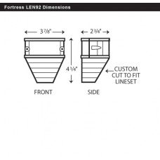 "Fortress LEN92B 3-1/2"" Brown End Fitting"
